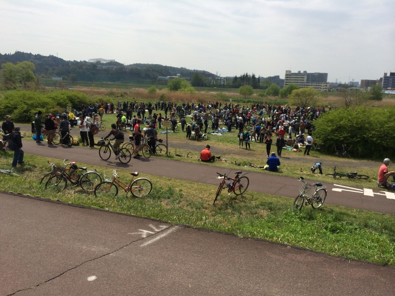 The Tokyo Bicycle Swap Meet, in a field way out at the end of the metro line next to the river.