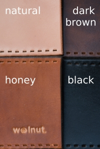 Walnut Studiolo Standard Leather Colors