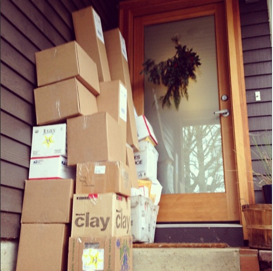 Walnut Studiolo Shipping Packages