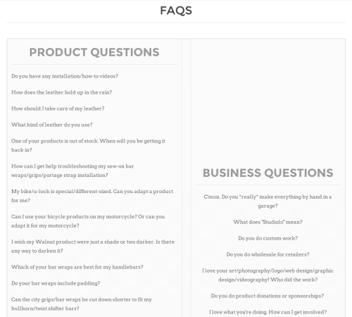 Walnut Studiolo Frequently Asked Questions FAQ