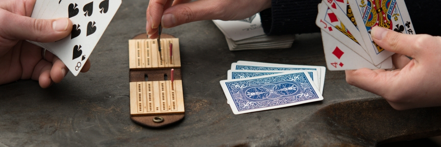 Travel Cribbage Board Card Game
