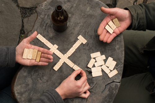 Travel Dominoes Game Walnut Studiolo