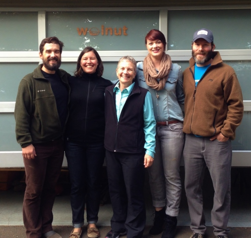 The Walnut Studiolo team who makes your leather home and bike accessories