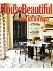 House Beautiful Magazine featuring Walnut Studiolo Drawer Pulls