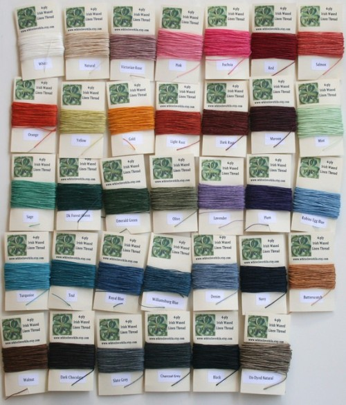 White Clover Kiln Thread Colors