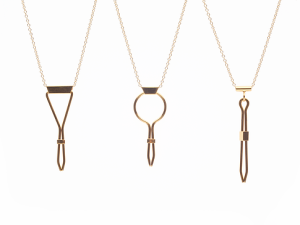Roach clip necklaces by Studio ERG