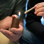 Monogrammed Leather Lighter Case