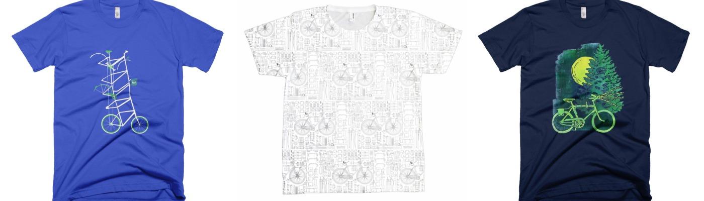 bicycle art t-shirt series 1 collage