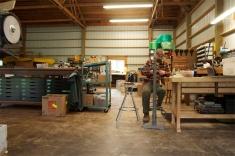 Geoff hard at work inside Walnut Studiolo