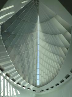 Dramatic lobby at the Milwaukee Art Museum