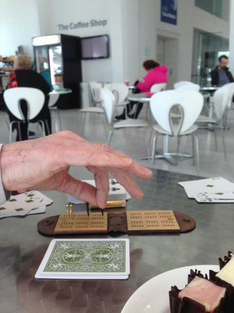 Playing cribbage in Milwaukee Wisconsin