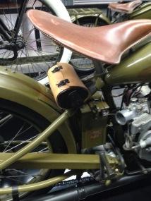 Harley Davidson vintage leather saddle bag.