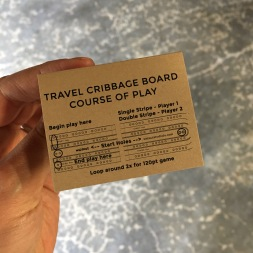 Travel Cribbage Board Course of Play Diagram