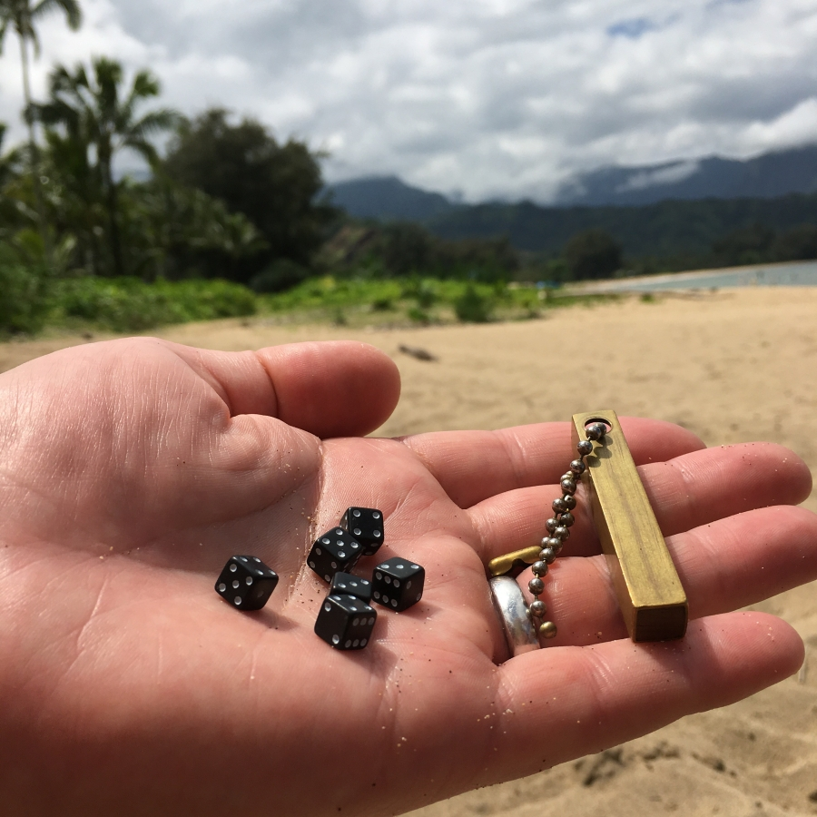 Playing Travel Dice Kauai Hawaii