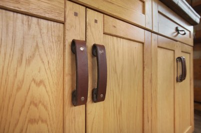 Leather Drawer Pulls from Walnut Studiolo