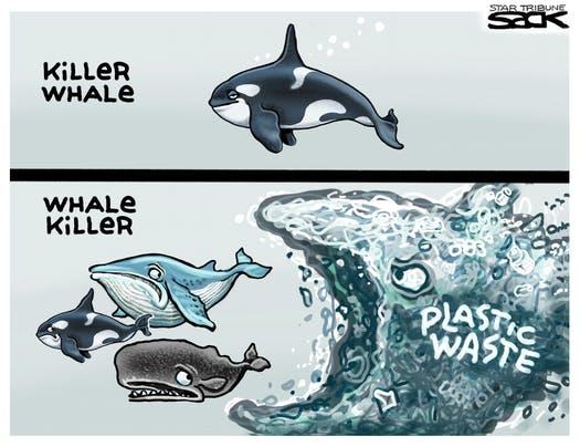 Single-use plastic waste ocean pollution